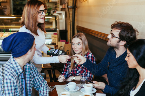 Waitress Charging Customers Bill