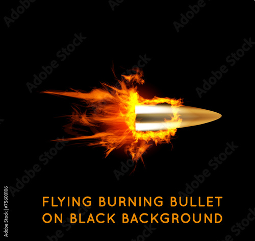 Flying burning bullet