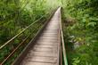 narrow wooden bridge