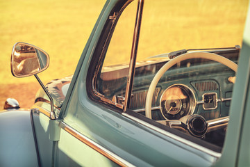 Retro styled detail of a classic car