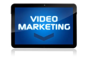 Tablet mit Video Marketing