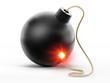 Bomb with burning fuse
