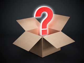 Question mark inside the box