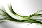 zielona abstrakcja na szarym tle - 75605556