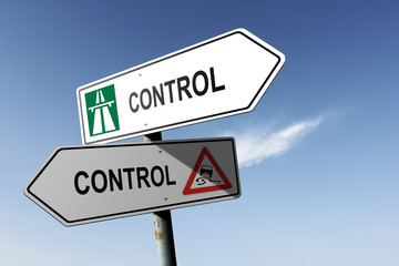 Control directions. Choice for easy way or hard way.