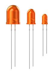 Set of orange LEDs