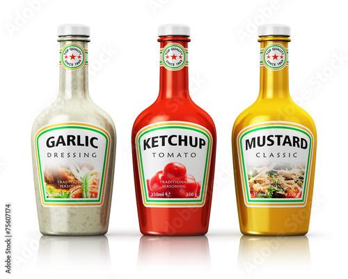 Set of bottles with seasonings - 75607174