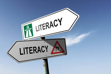 Literacy directions. Choice for easy way or hard way.