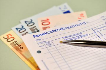 Reisekostenabrechnung, Belege, Quittungen, Dienstreise