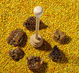 Honey dipper and natural bee products