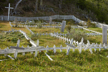 Yaghan Cemetery on Navarino Island