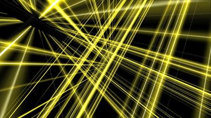 3d line yellow 4k