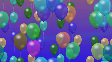 Party balloons generated seamless loop video