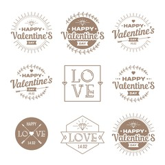 Valentine`s day set - labels, emblems.