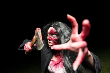 Zombie mit Axt