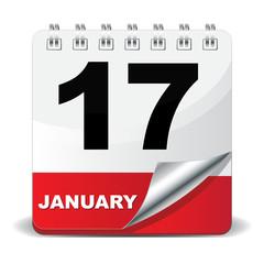 17 JANUARY ICON