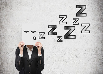businesswoman sleep