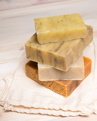Bars of organic homemade soap