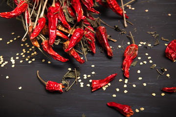 Spicy red dried chilies