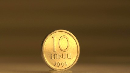 Armenian 10 Cent Coin Collection Item