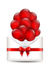 Balloons in an envelope