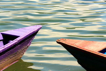 Wooden boats on lake Phewa. Pokhara-Nepal. 0715