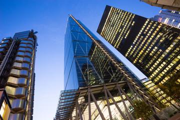Windows of Skyscraper Business Office in London