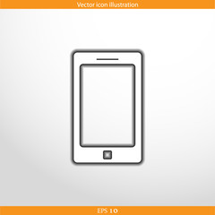 Vector smart phone web flat icon