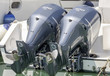 Couple of outboard engines