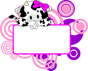 cute cow baby girl copyspace