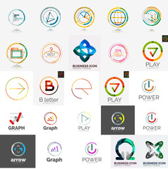 Set of various universal company logos