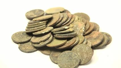 Pennies Found In Metal Detecting