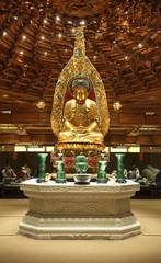 Statue of buddha in Po Lin Monastery. Lantau Island