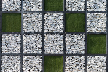 Limestone and Artificial grass background