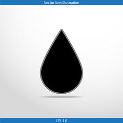 Vector drop web flat icon