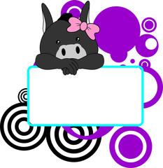 cute donkey baby girl copyspace