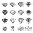 diamond icon set - 75615380