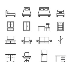 furniture line icon