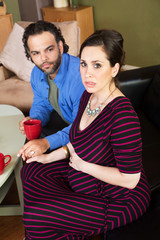 Concerned Pregnant Couple