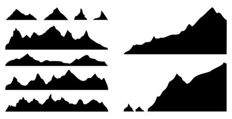 mountains silhouettes, vector illustration