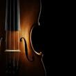 Leinwandbild Motiv Violin orchestra musical instruments