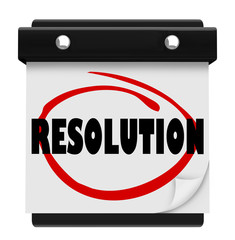 Resolution New Year Promise Vow Achieve Goal Resolved Mission Ca