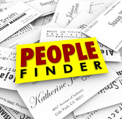 People Finder Business Cards Employment Recuiter Hiring Job