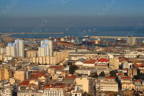 Tuinposter Algerije Alger et son port de commerce, Algérie