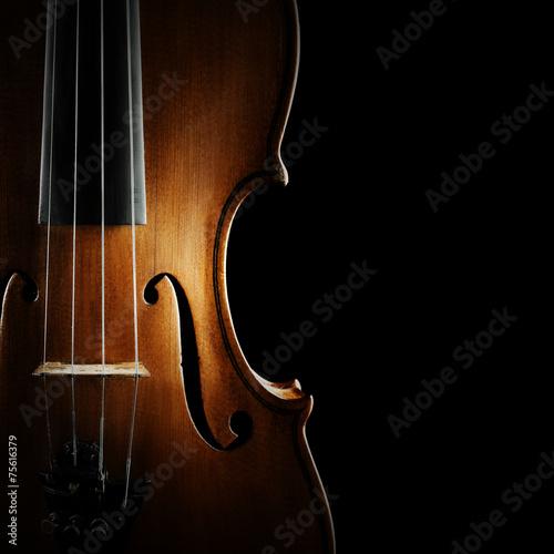 Fotobehang Muziekwinkel Violin orchestra musical instruments