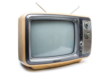 Vintage TV on  white background