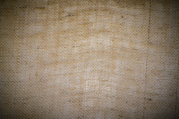sack material background vignate