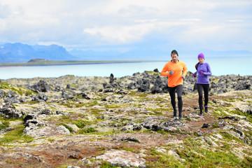 Exercise running sport - runners on cross country