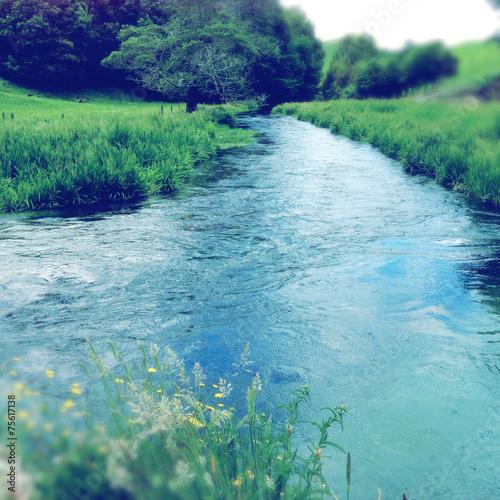 Leinwanddruck Bild Spring water
