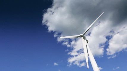 Wind turbines, video
